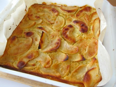 Not too sweet and stuffed with apples, this Custardy Apple Squares makes a wonderful breakfast treat with a sophisticated taste.   ShockinglyDelicious.com