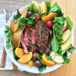 Flap Steak Salad Bowl WeekdaySupper on ShockinglyDelicious.com