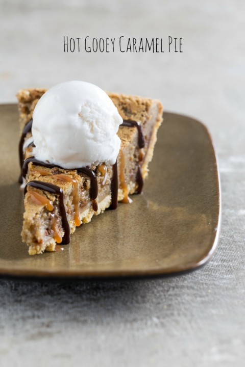 Hot Gooey Caramel Pie might be the best pie you ever made! Try it as a second pie for Thanksgiving | ShockinglyDelicious.com