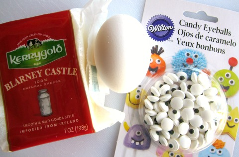 Ingredients for Cheesy Egg Mummy for Halloween Kerrygold