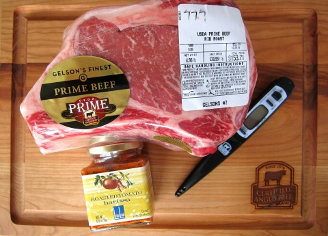 Ingredients for Ribeye Roast with Harissa on ShockinglyDelicious.com