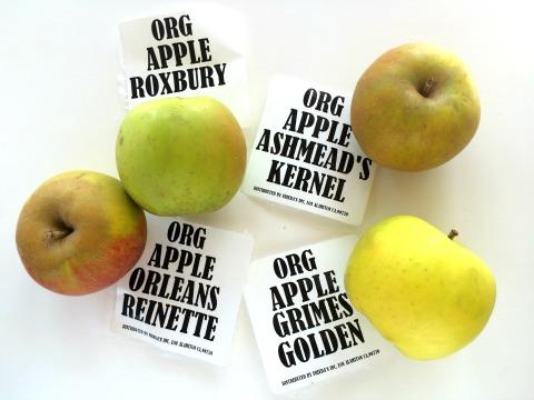 Organic heirloom apples from Frieda's Produce on ShockinglyDelicious.com