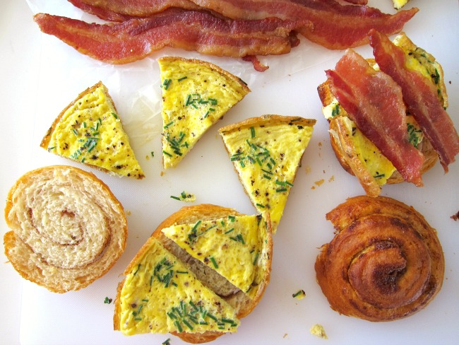 Assembling Bacon-Orange Breakfast Sandwiches on ShockinglyDelicious.com