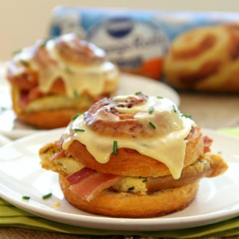 Bacon-Orange Breakfast Sandwiches on ShockinglyDelicious.com