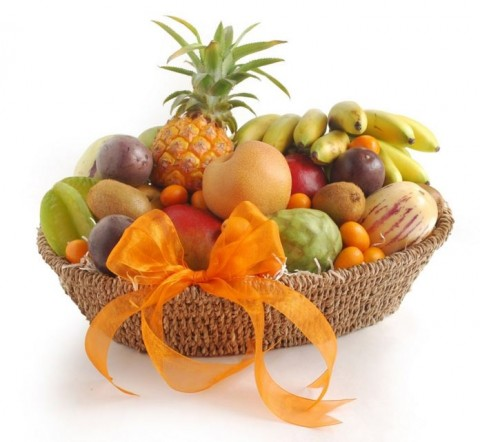 Deluxe Exotic and Tropical Fruit Basket from Melissa's Produce