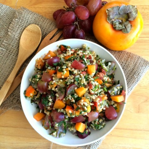 Fast Fruity Tabbouli Salad with Bacon dish on ShockinglyDelicious.com