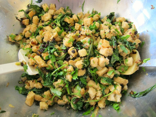 Mix the stuffing in a big bowl on ShockinglyDelicious.com