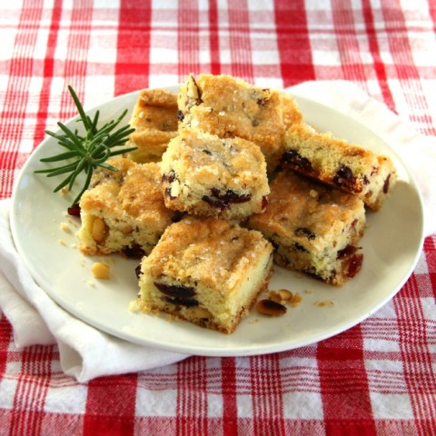 Cranberry Rosemary Shortbread on ShockinglyDelicious.com