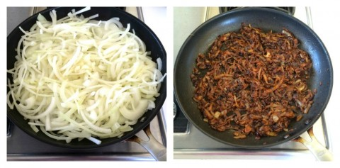 Caramelizing onions on ShockinglyDelicious.com