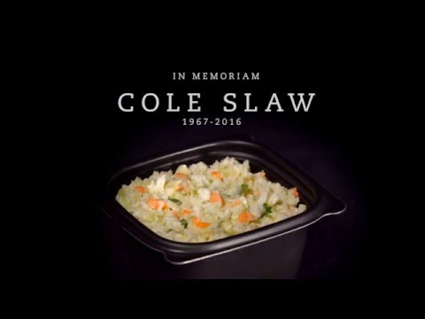 Chick-fil-A Cole Slaw in memoriam opening slide to a video posted on Youtube