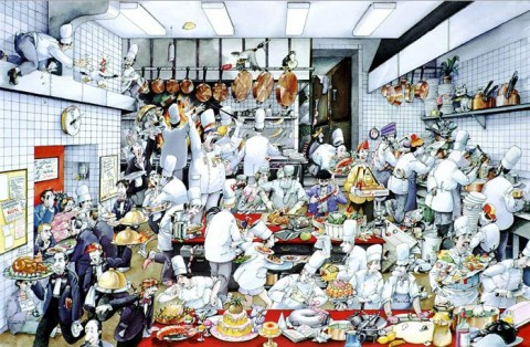 L. Tellier Kitchen Poster by de Roger Blachon
