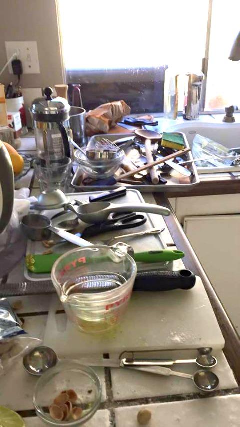 Mary Platis kitchen during recipe development