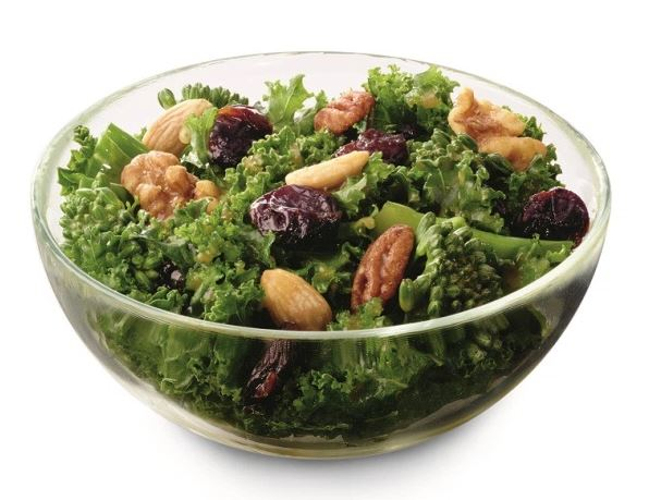SuperFood Side Salad at Chick-Fil-A in a glass bowl