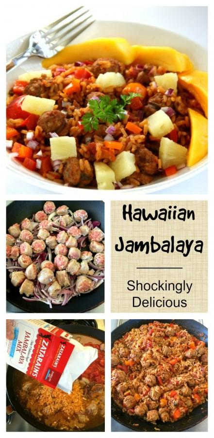 Hawaiian Jambalaya is a 1-skillet meal on ShockinglyDelicious.com