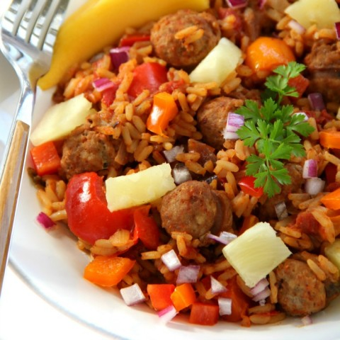 Hawaiian Jambalaya recipe on ShockinglyDelicious.com