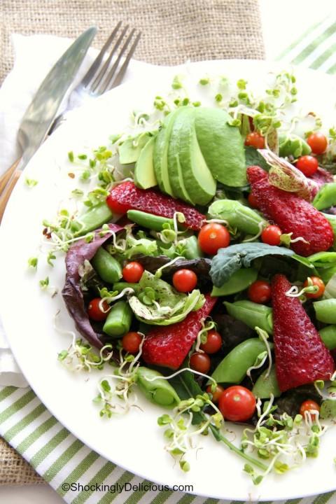 Delicious Spring Farmers Market Salad on ShockinglyDelicious.com