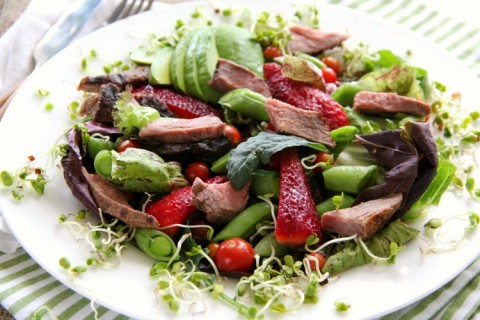Fresh Spring Farmers Market Salad on ShockinglyDelicious.com