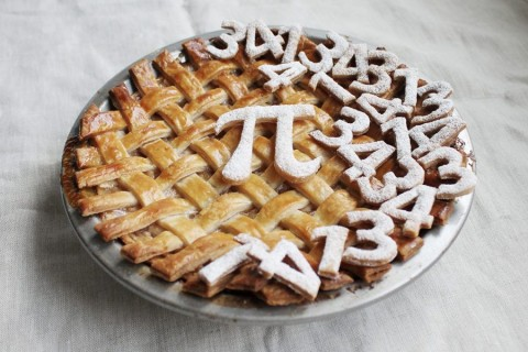 Pi-day-pie crust from King Arthur Flour with 314159 numbers all over the top
