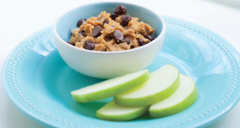 April Fools' Day funny, with the flavor and texture of homemade cookie dough in a deceptive dip to delight your snackers. (Shhh...it's really chickpeas!)   ShockinglyDelicious.com
