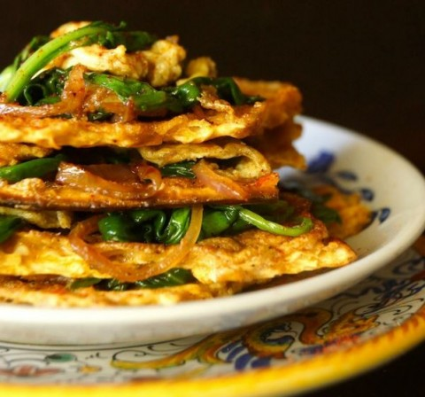 Matzo Brei a la Florentine by Cooking on the Weekends -- photo by Valentina Wein