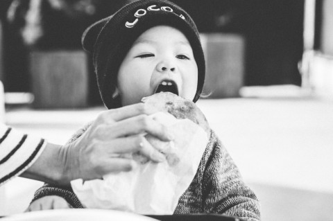 Child eating at LocoL @Audrey Ma
