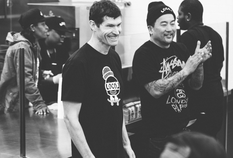 Chefs Daniel Patterson and Roy Choi during team meeting at Locol Restaurant ©Audrey Ma