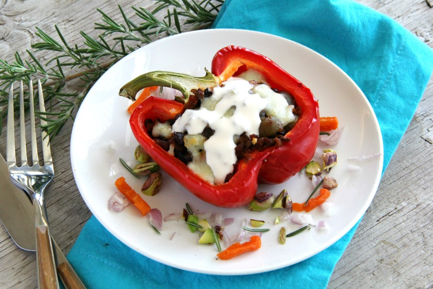 Picadillo Stuffed Peppers on ShockinglyDelicious.com