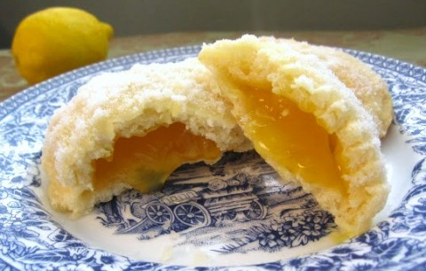 Baked Lemon Doughnuts Filled with Lemon Jelly on A Taste of Madness