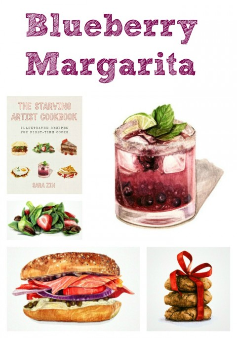 Blueberry Margarita from The Starving Artist Cookbook by Sara Zin