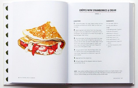Crepes with Strawberries & Cream from The Starving Artist by Sara Zin