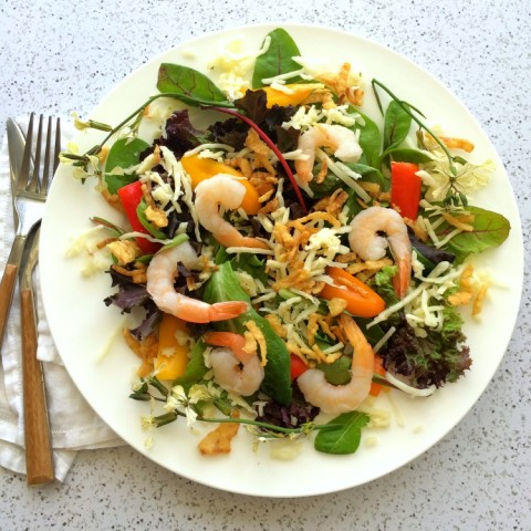 How to build a salad in summer on ShockinglyDelicious.com