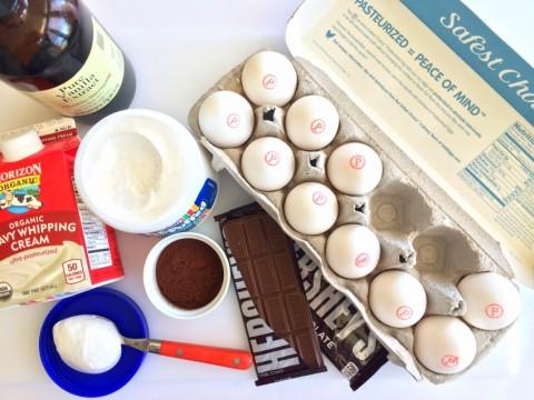 Ingredients for No-Churn Fluffy Milk Chocolate Ice Cream on ShockinglyDelicious.com