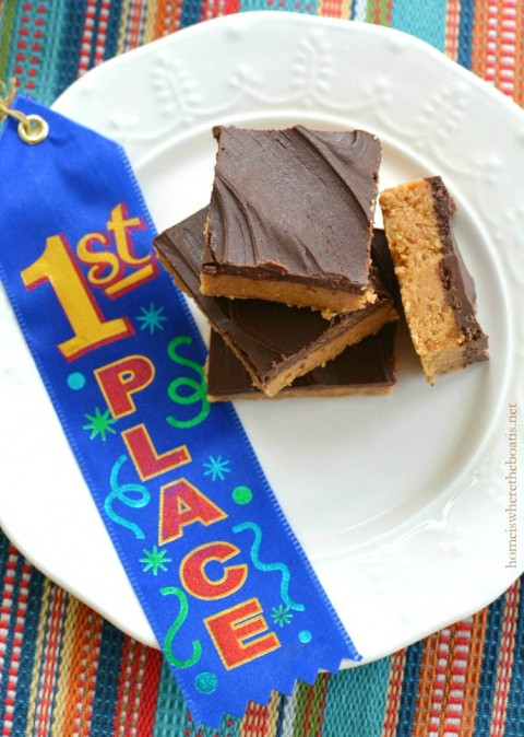 Peanut Butter Bars from Kitchens of the Great Midwest on Home is Where The Boat Is