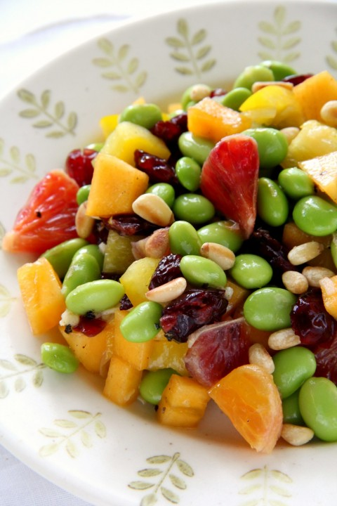 edamame-salad-with-persimmon-peppers-and-pine-nuts-recipe-on-shockinglydelicious-com