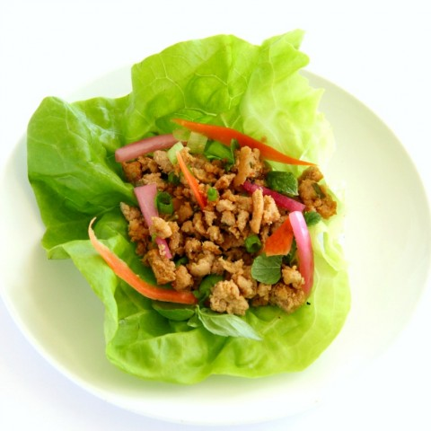 Thai-Inspired Turkey Lettuce Wraps