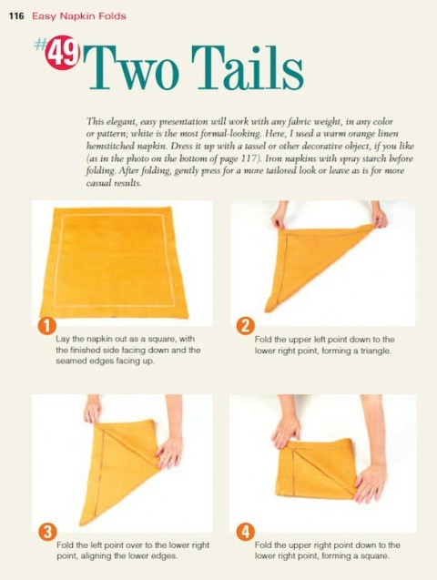 two-tails-napkin-fold-1st-steps