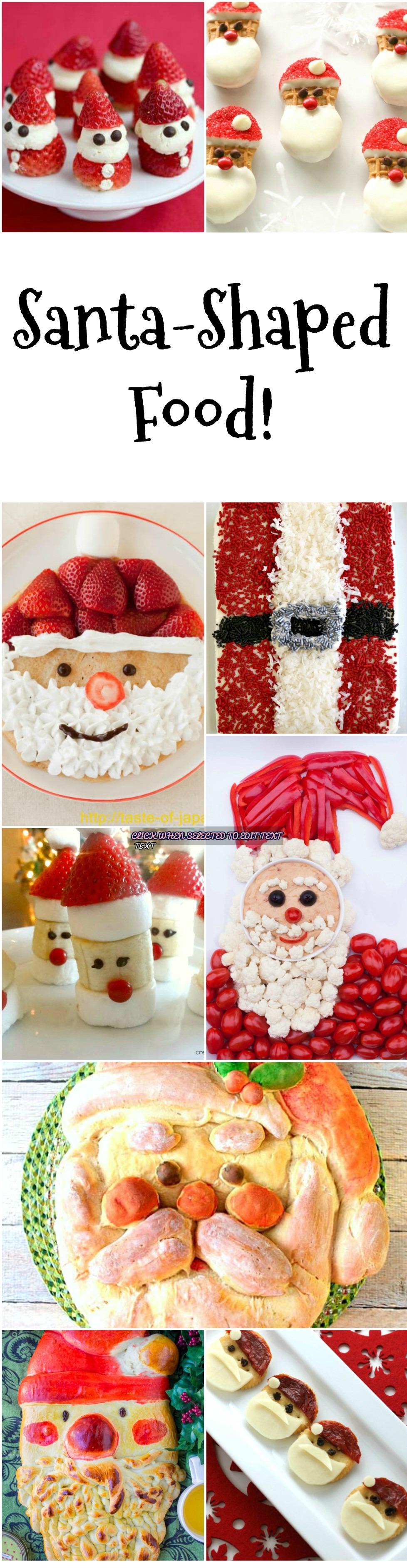 collage of santa-shaped-food-on-shockinglydelicious-com