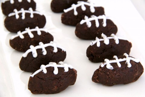 Potato Football Candy for game watching food on ShockinglyDelicious.com