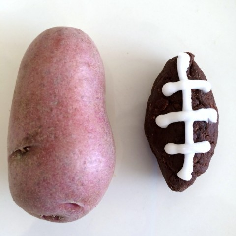 Potato Football Candy with Idaho Potato Fingerling Potato on ShockinglyDelicious.com