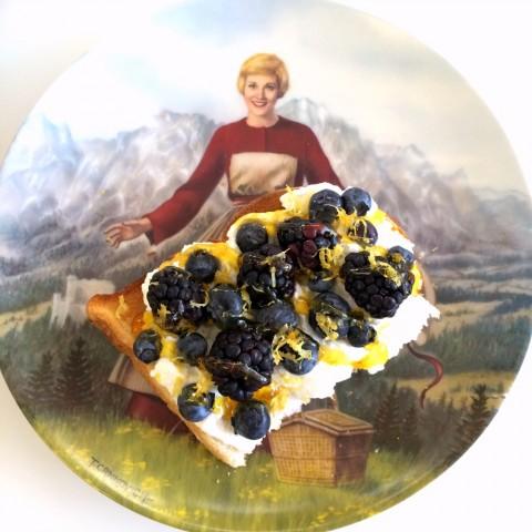 Sourdough Ricotta Berry Lemon Honey breakfast toast
