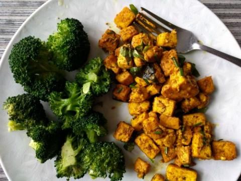 Tofu Scramble from Ketogenic Mediterranean cookbook