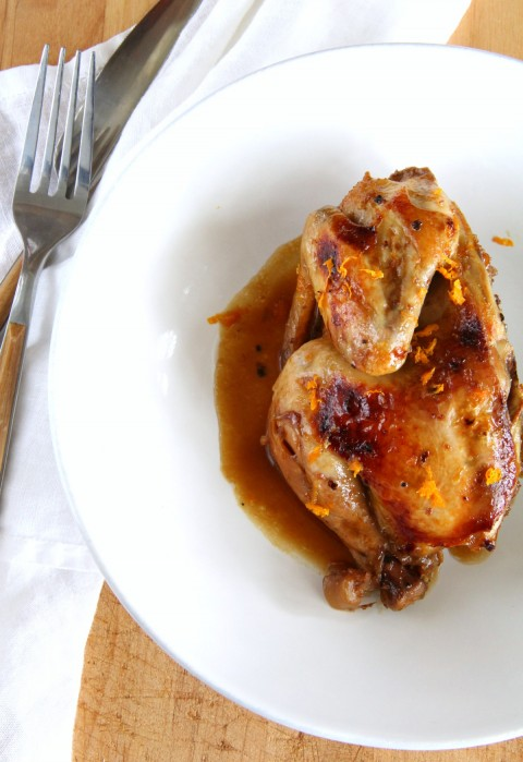 Slow Cooker Cornish Game Hens with Cointreau Orange Sauce on ShockinglyDelicious.com Game Hens make an elegant poultry dinner for a special night in, or when you want to impress your family or guests. Don't tell anyone the slow cooker made it easy.