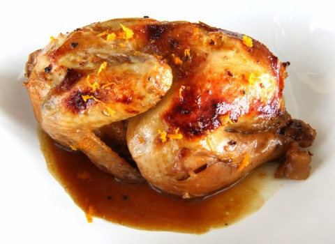 Elegant Slow Cooker Cornish Game Hens with Cointreau Orange Sauce on ShockinglyDelicious.com