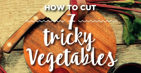 How to Cut 7 Tricky Vegetables -- it's easy once you know the tips to cut artichokes, celeriac, kohlrabi, spaghetti squash, cassava, sweet corn and beets.