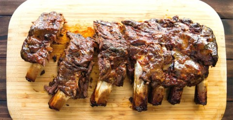 Maple Glazed Rack of Ribs from Perfect for Pesach
