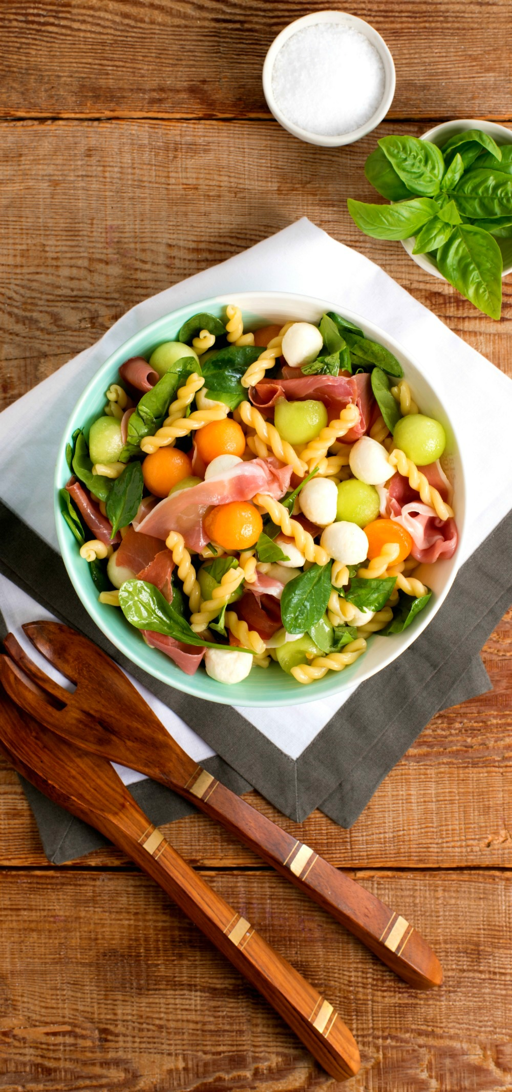 Melon Prosciutto Pasta Salad recipe