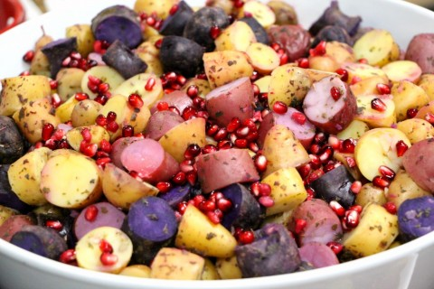 Mojito Potato Pomegranate Salad by Raghaven Iyer