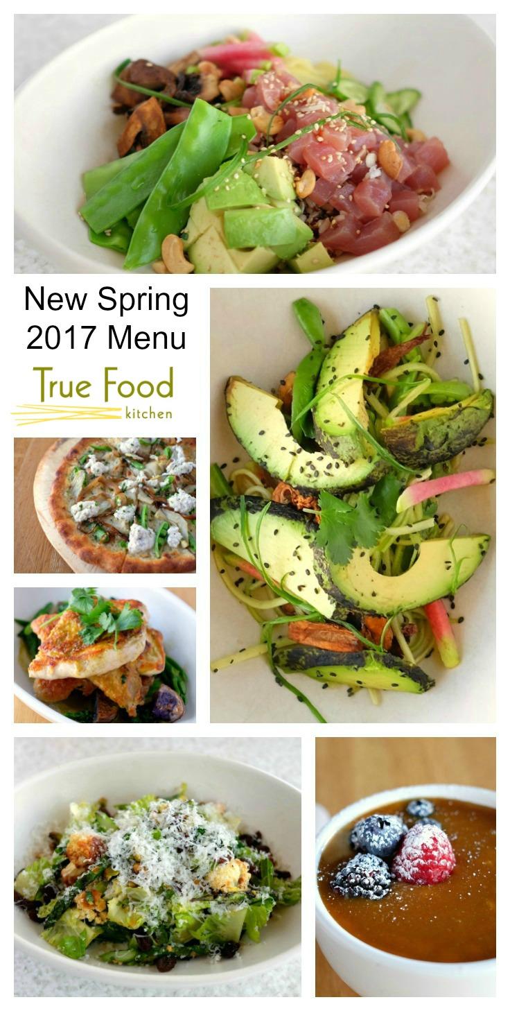 New Spring 2017 Menu Items at True Food Kitchen restaurant