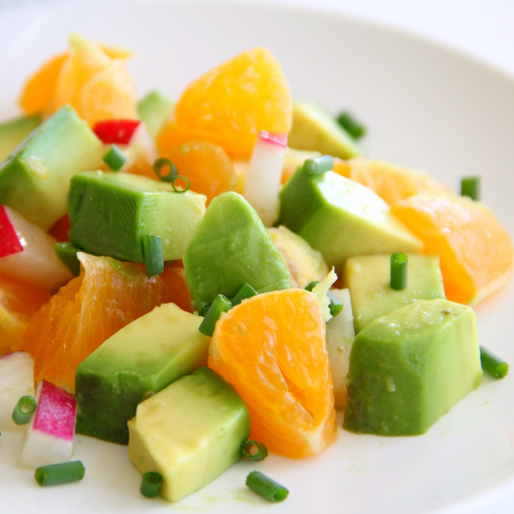 Pixie Dust Salad with Avocados, Tangerines and Radishes