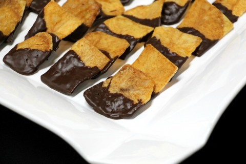 Thick Cut Potato Crisps with Dark Chocolate by Raghaven Iyer